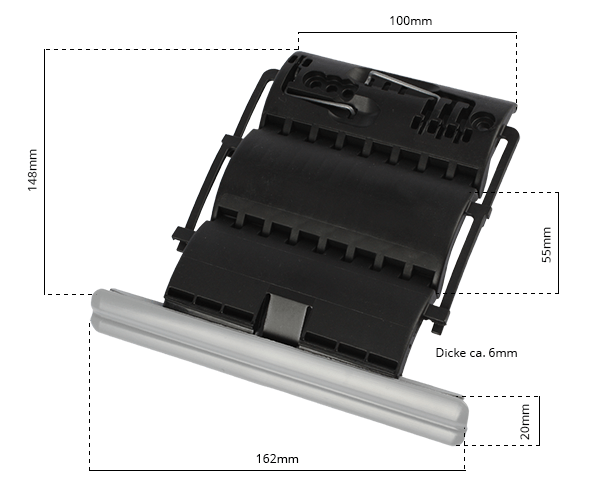 Maße Wellenclipverbinder 2204192