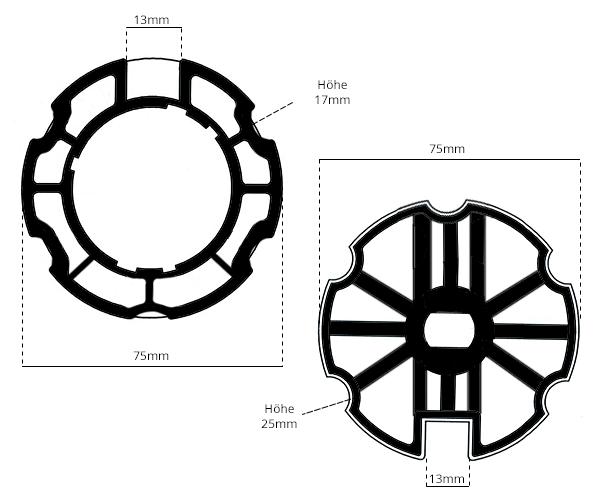 Adapter Markise Rundwelle