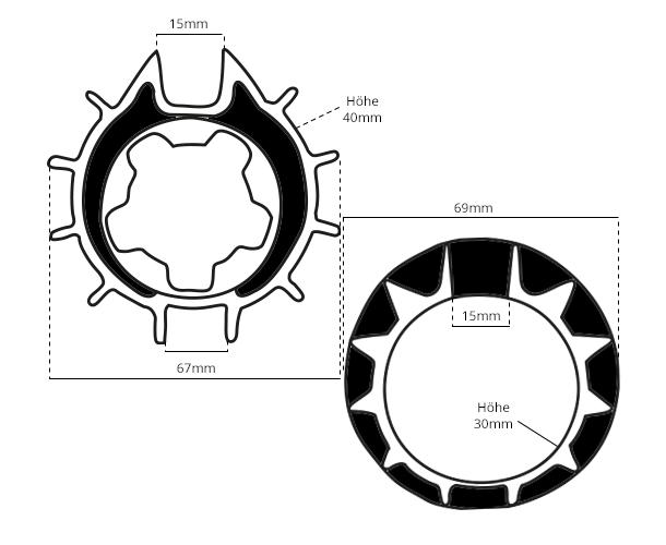 Maße Adapter 70mm