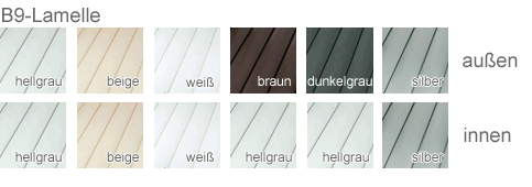 Dachfensterrollläden Lamellen