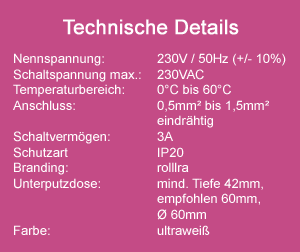 Zeitschaltuhr EASYTOUCH technische Daten