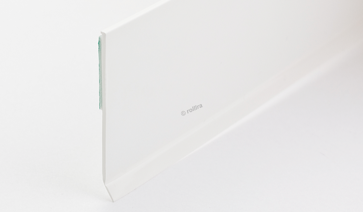 Flachleiste Kunststoffleiste Fensterleiste mit Gummilippe B: 50mm | L: 2m