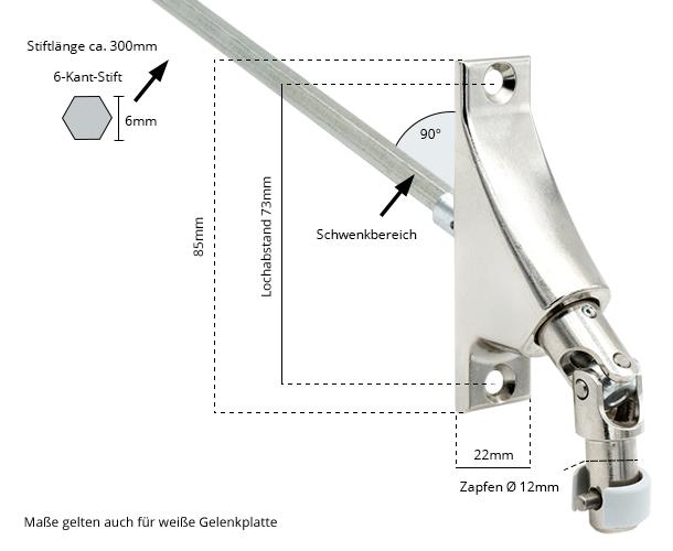 Maße Gelenklagerplatte