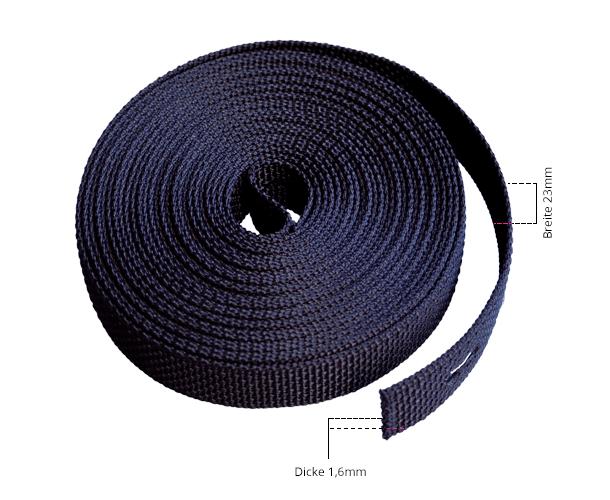 Maße Gurtband schwarz