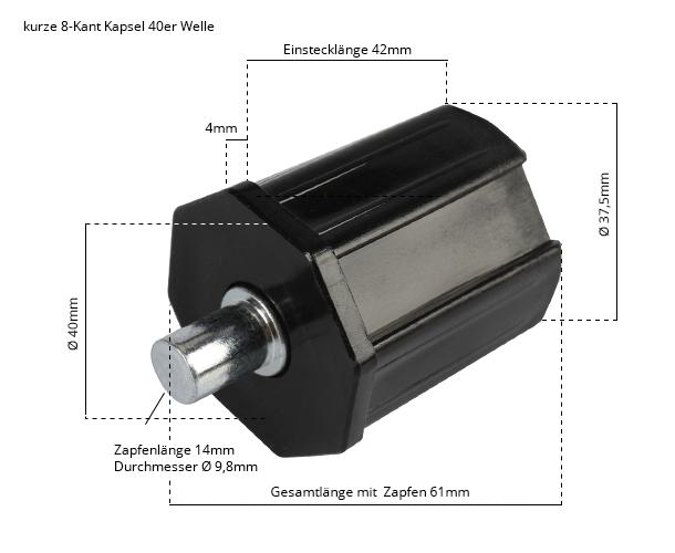 Maße Walzenkapsel mini