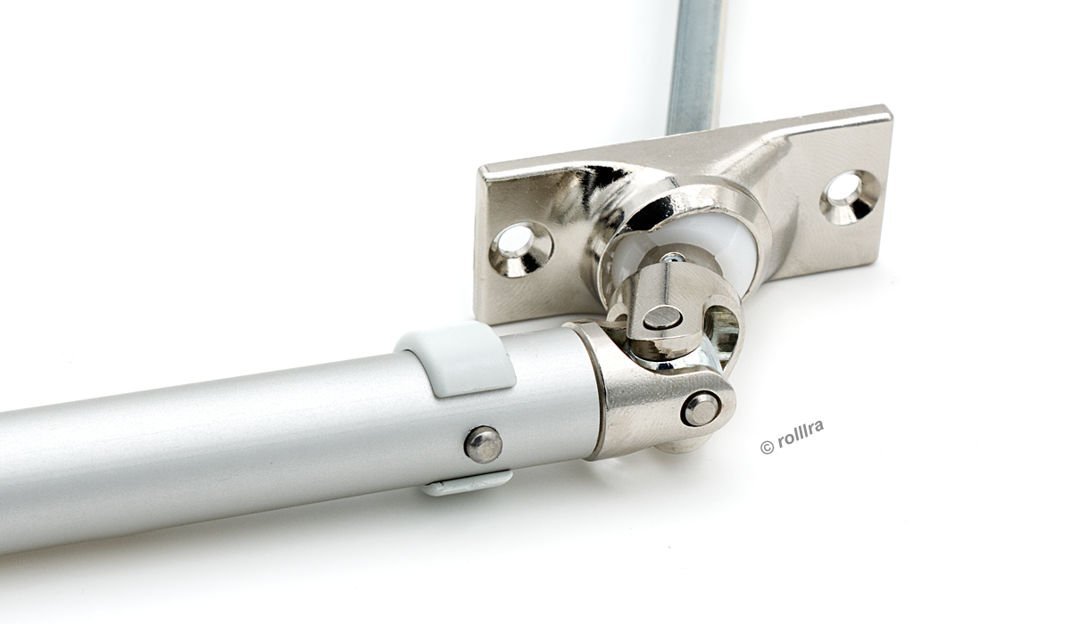 52x22mm, 45/° rolllra Kurbelstange mit Gelenklagerplatte Silber eloxiert, 120 cm