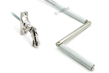 Gelenklagerplatte 45 Grad 4-Kant-Stift silber