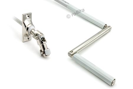 Gelenklagerplatte 45 Grad 6-Kant-Stift silber