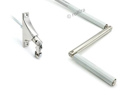 Gelenklagerplatte 90 Grad 6-Kant-Stift silber