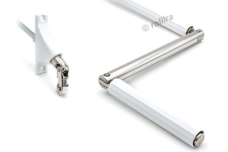 Gelenklagerplatte 90 Grad 4-Kant-Stift weiß
