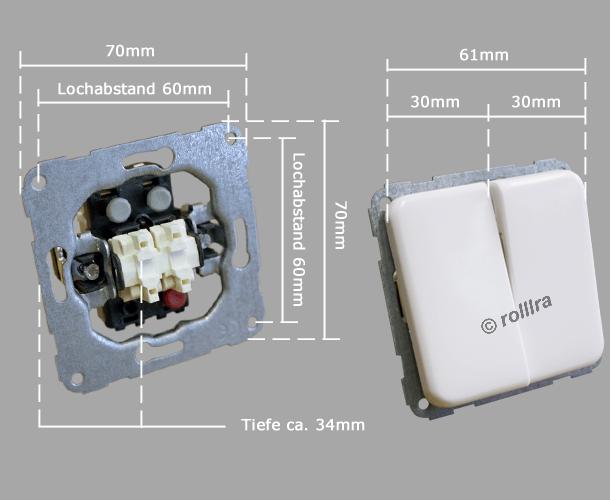 Lichtschalter Unterputz