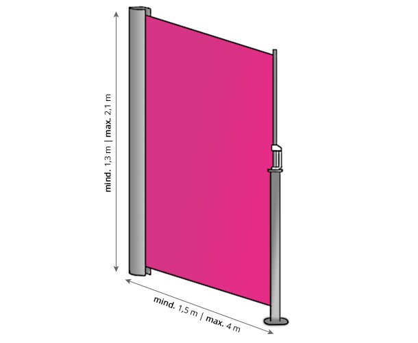 Maße Seitenzugmarkise