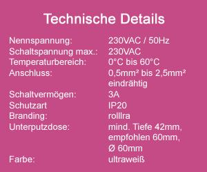 Zeitschaltuhr MICRO technische Daten