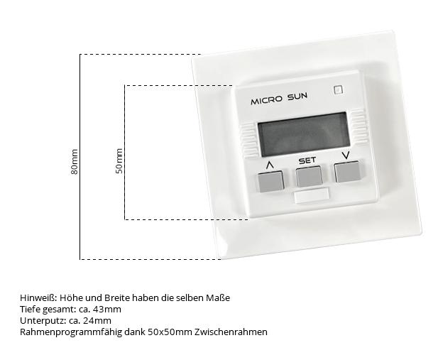 Maße Micro SUN Zeitschalter