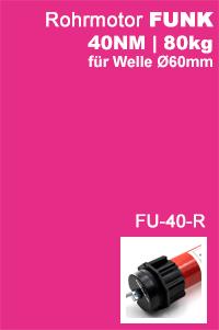 Rohrmotor MAXI 60mm 40NM FUNK