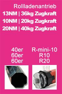 Rohrmotor Mini MAXI 40mm 60mm