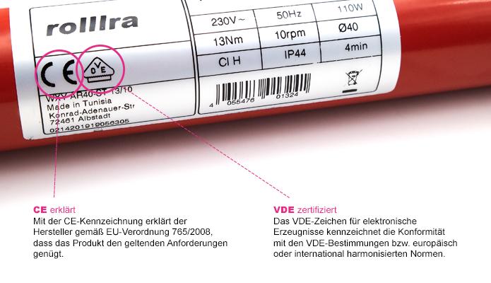 Zertifizierung Rohrmotor
