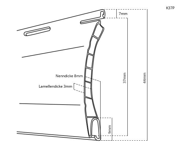 Rollladenpanzer PVC K37P