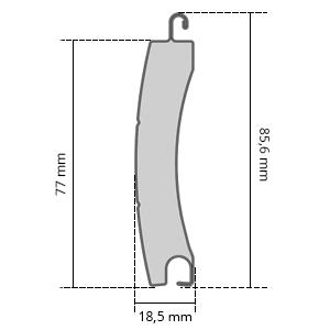 Lamelle Maße T77