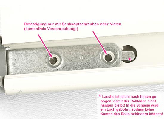 Montage Einlauftrichter Schrauben