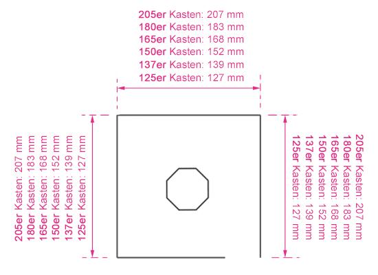 Grafik Kasten quadratisch