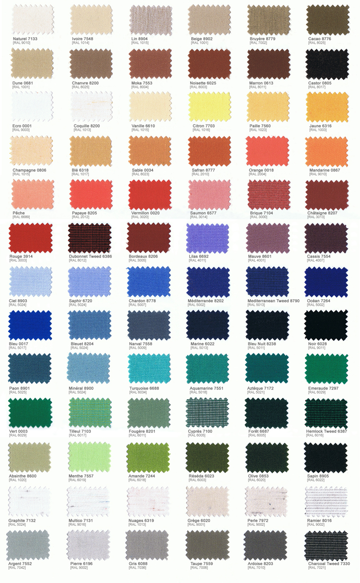 Farbentabelle